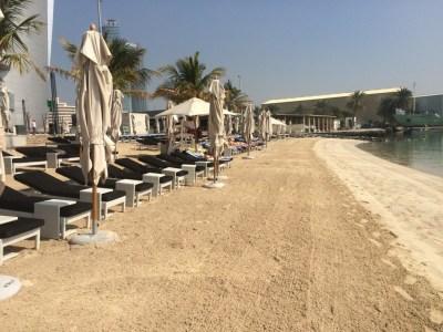 Jumeirah Etihad Towers review beach