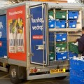 A Tesco home delivery van