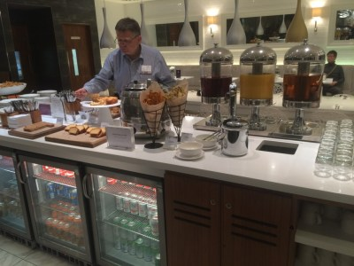 No 1 Traveller lounge Heathrow Terminal 3 review buffet