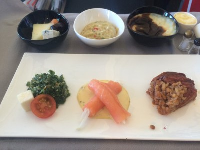 Turkish Airlines business class food