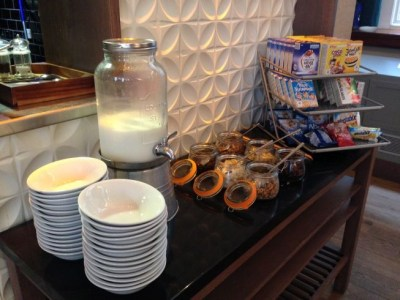 aloft liverpool hotel review breakfast cereals