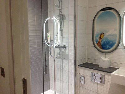 ibis styles heathrow airport review my room bathroom shower