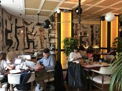 Gran Hotel Montesol Curio Hilton Ibiza coffee shop atmosphere