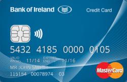 Bank of Ireland credit card