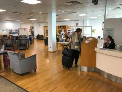Review British Airways Terraces lounge newcastle reception