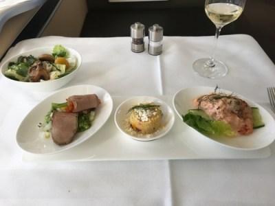 Lufthansa First Class food 3