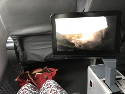 norwegian premium review - gatwick new york premium tv screen