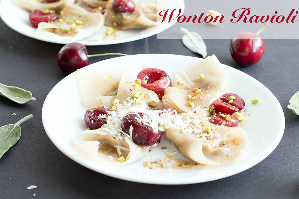 Wonton Ravioli With Brown Butter Sauce