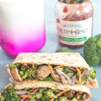 Veggie Flatbread Sandwich (Sweet and Spicy)