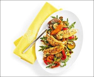 Lauwarmer Poulet-Gemüse-Salat