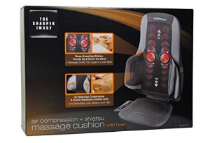 The Sharper Image Air and Shiatsu Best Massage Cushion