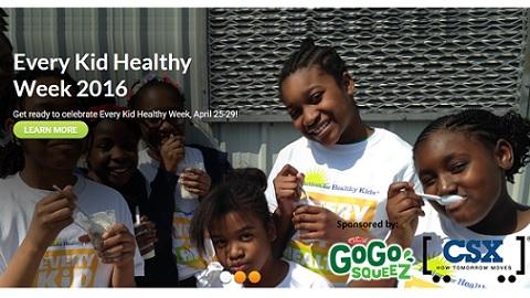 Every Kid Healthy Week: April 25-29, 2016