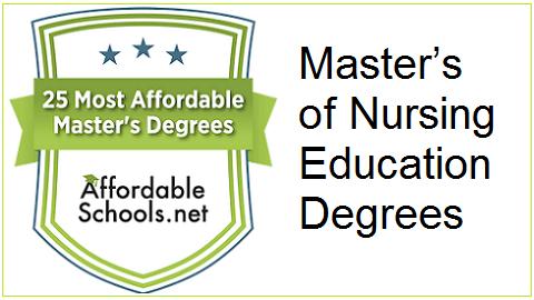 Affordability Ranking of Online Master's-Level Nursing Education Degrees