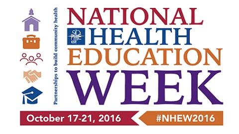 National Health Education Week – October 17 – 21, 2016