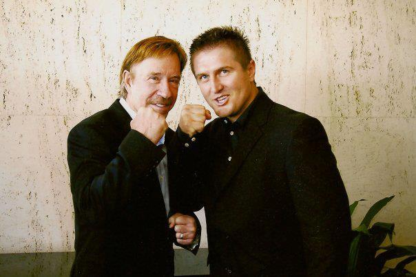 Chuck Norris and HFR founder Samir Becic