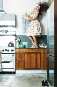 Woman Performing on a Counter Top