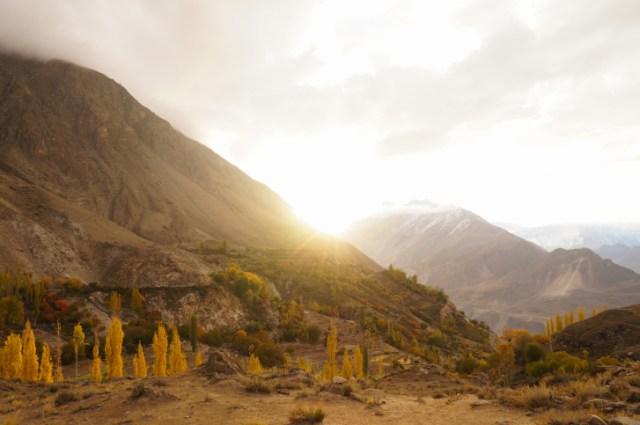 Sunrise at Hunza valley, Northern Pakistan