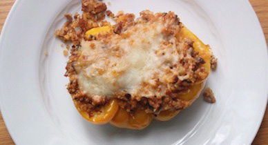 quinoa turkey stuffed peppers