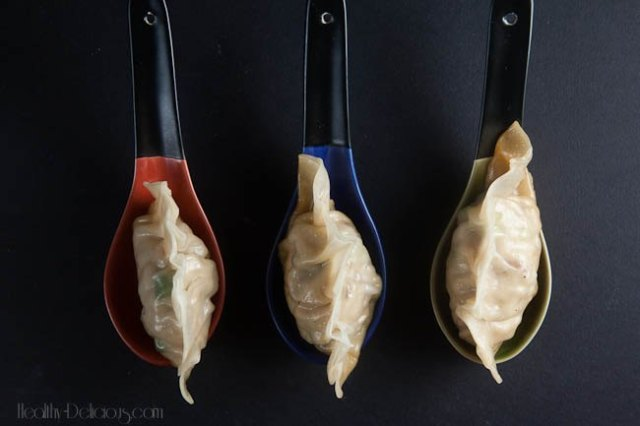 chicken bacon scallion potstickers