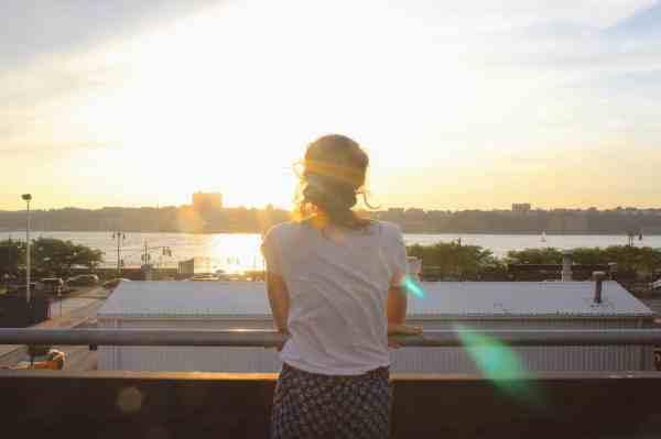 new york high line sunset