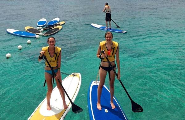 paddleboarding with sarah