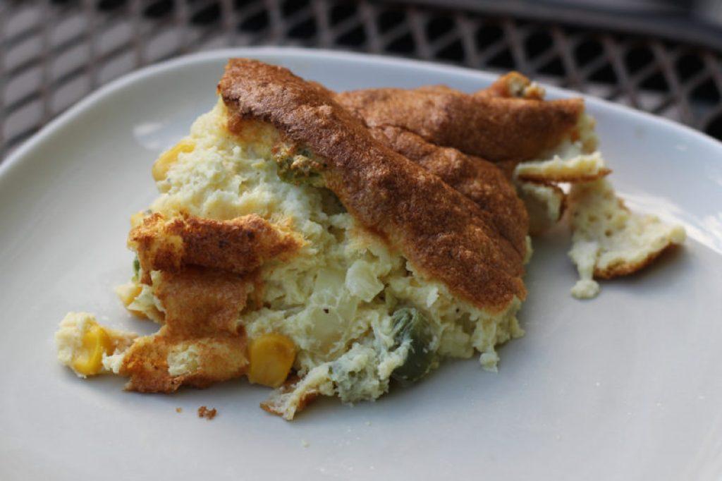 Light Cheddar Corn Soufflé - Healthy Mama Cooks