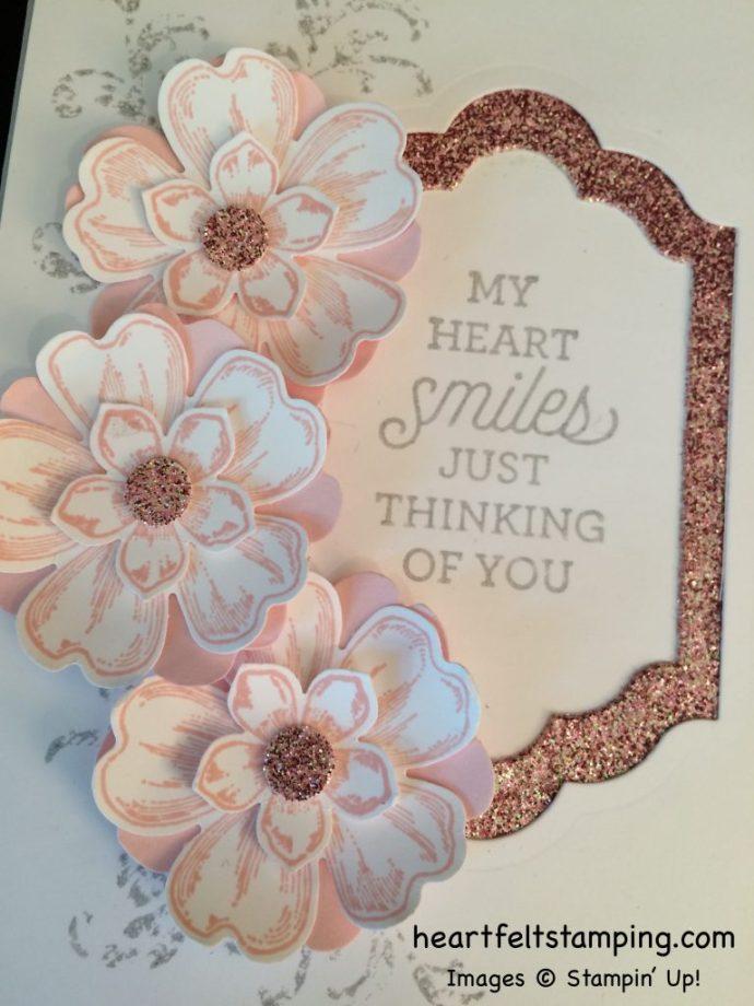Stampin Up Flower Shop Friendship card - Rosanne Mulhern stampinup