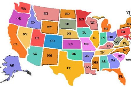 pics photos map of the united states for kids printable