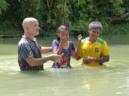 Tim & Abil baptizing