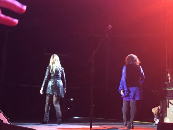Nancy and Ann leaving the stage together. October 22nd 2016 (Picture by Boogie)