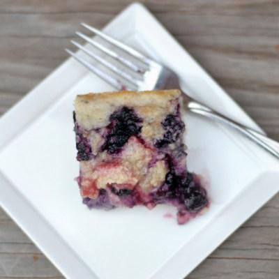 [Almost Vegan] Fresh Berry Coffee Cake