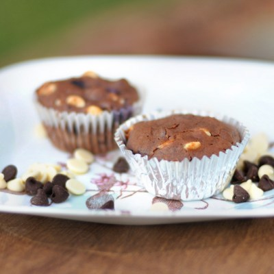 Triple Chocolate Blueberry Muffins