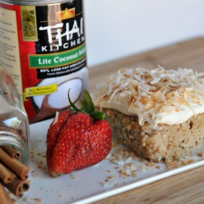 Toasted Coconut Tres Leches Cake