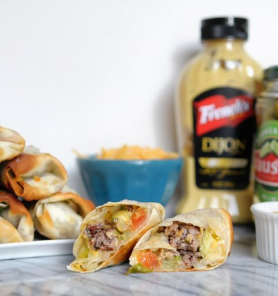Loaded Cheeseburger Eggrolls