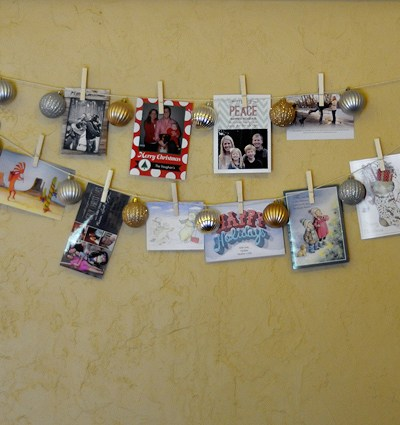 How to DIY: Easy & Inexpensive Christmas Card Holder