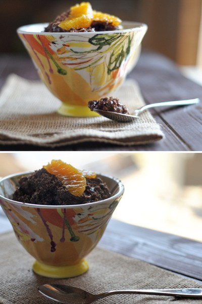 Orange Mocha Chocolate Rice Pudding