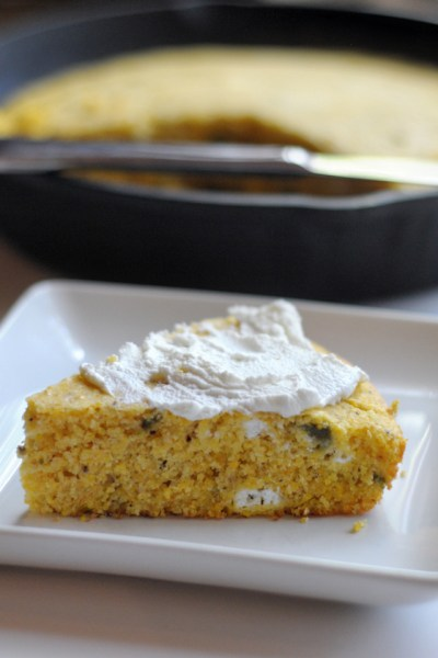 Roasted Jalapeno and Goat Cheese Cornbread