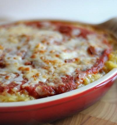 Healthy Spaghetti Squash Parmesan