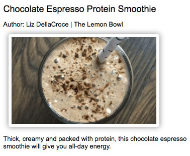 Chocolate Espresso Protein Smoothie from The Lemon Bowl
