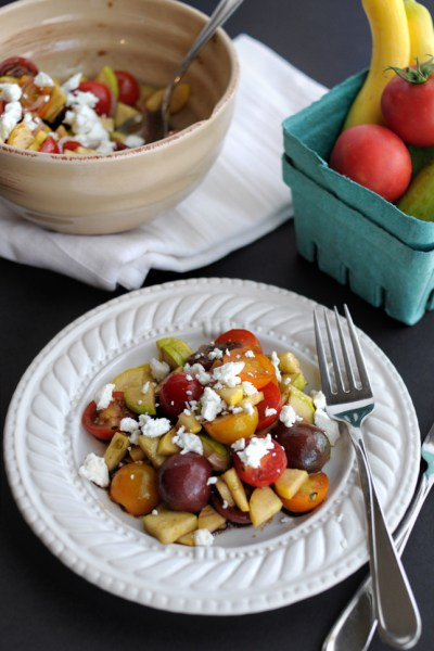 Marinated Tomato and Zephyr Squash Salad