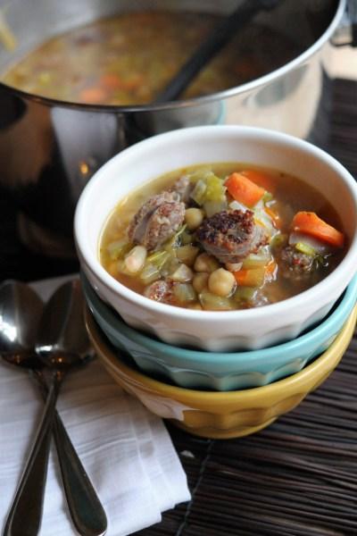 Sausage, Leek & White Bean Soup