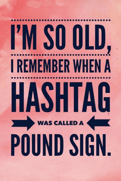 Proof That I'm Old