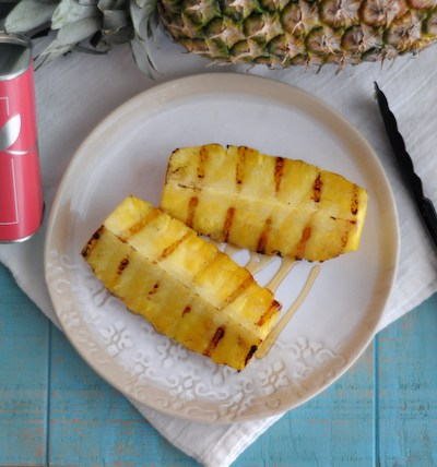 Citrus Olive Oil and Honey Grilled Pineapple