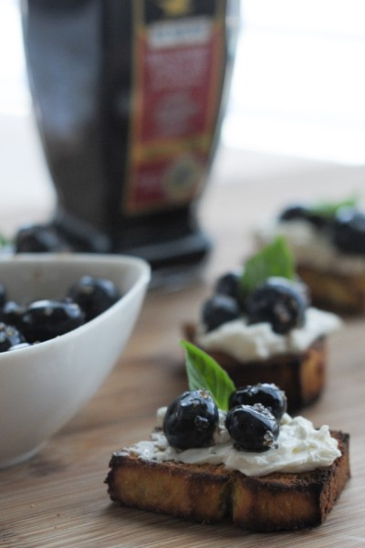 Macerated Balsamic Blueberries with Mascarpone