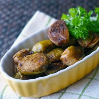 Garlic Balsamic Roasted Brussel Spouts