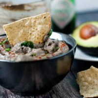 Black Bean Hummus with Avocado