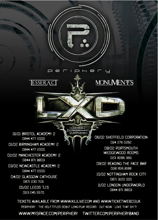 The League of Extraordinary Djentlemen Tour (UK)