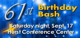 Web Graphic for 61st Birthday Bash