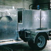 We also fabricated the aluminum storage tanks for waste and fresh water.