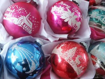 Christmas Ornaments in box